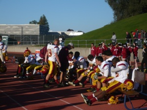 City College players take a breather during the intense second half of play